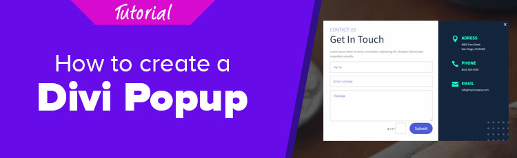 How to create a Divi Popup