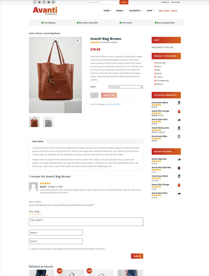 Product page v1