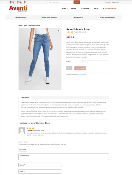 Product page v2