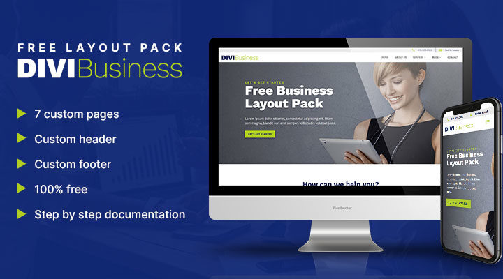 Divi Business Free Layout Pack