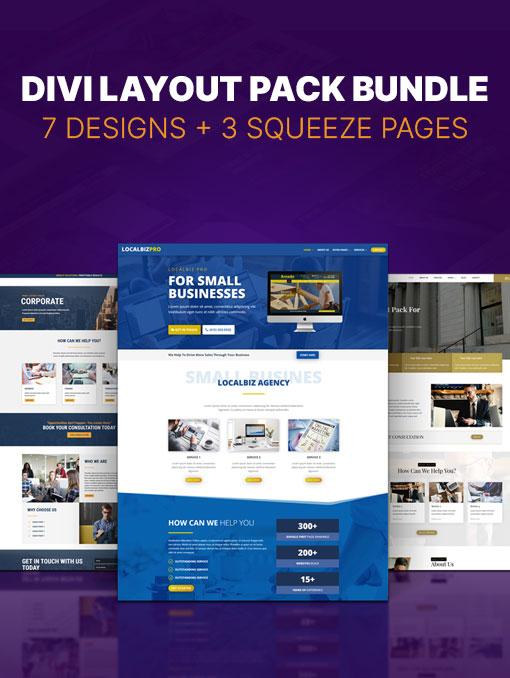 7 Divi layout pack bundle