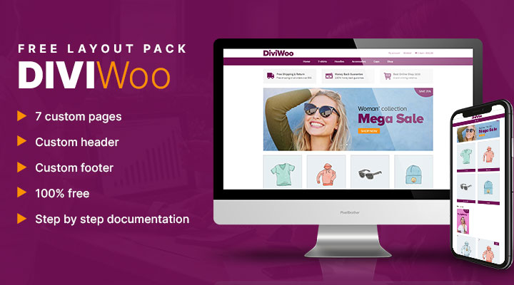 Divi + WooCommerce layout pack