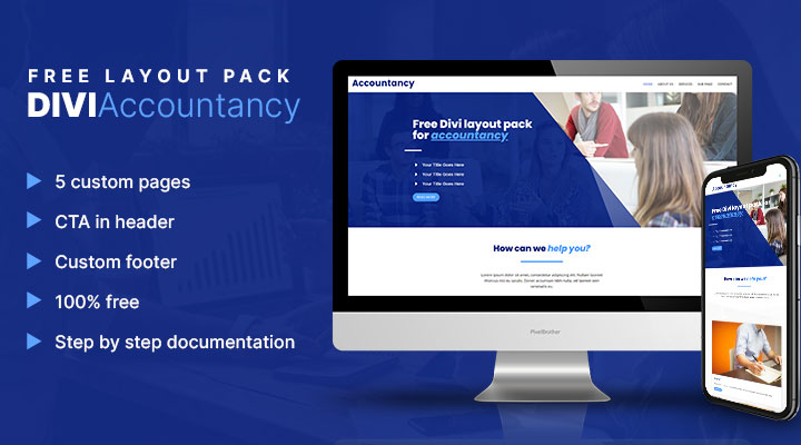 Divi accountancy layout pack