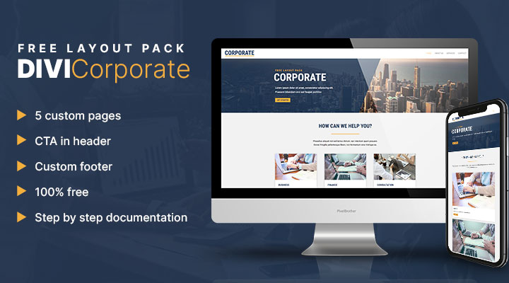 Divi corporate layout pack
