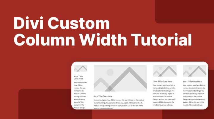 Divi custom column width