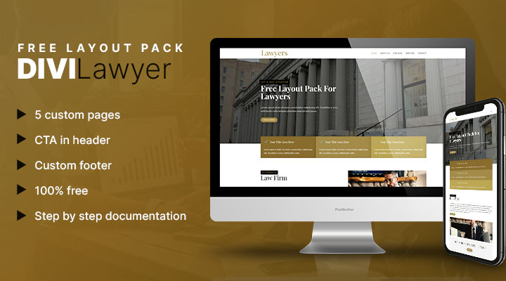 Divi lawyer layout pack