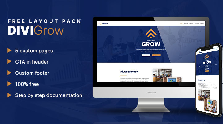 Grow Divi layout pack