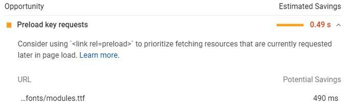 Preload ET Icon fonts modules ttf for Divi