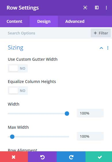 Set the row to full width in Div
