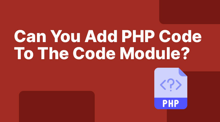 Can you add PHP code in the Divi code module