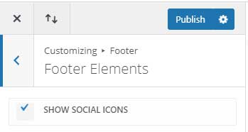 Disable Divi social icons in the footer