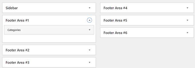 Divi footer widgets