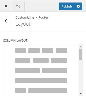 Footer column layou
