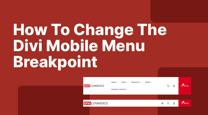 How to change the Divi mobile menu breakpoint