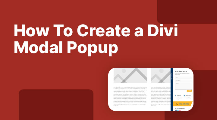 How to create a Divi modal popup