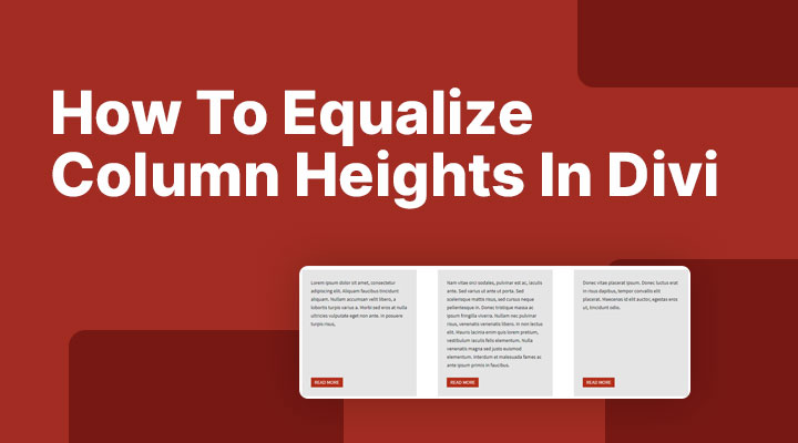 How to equalize column heights in Divi