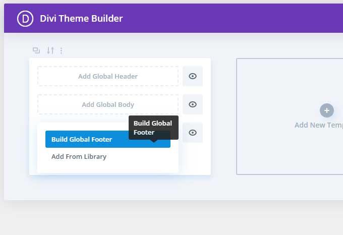 Cliquez sur Build Global Foote