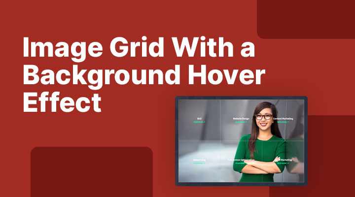 Image Grid With a Background Hover Effect In Divi