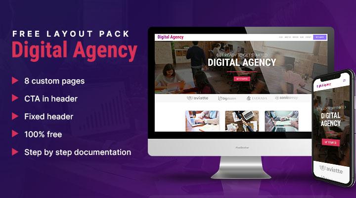 free digital marketing layout pack