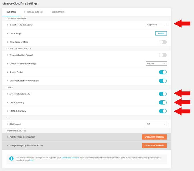 SiteGround Cloudflare settings